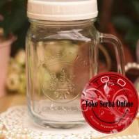Promo Drinking Jar Harvest Time Gelas Toples Dengan Tutup / Mug Jar