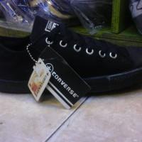 sepatu murah converse slim full black + box