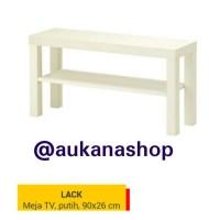 IKEA LACK Meja TV, Putih dan Hitam, 90x26 Cm