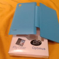 Flip Cover Flipcover Case For Optimus Lg L9 P765 Warna Biru
