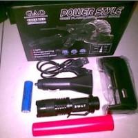 senter mini swat police c68 c 68charger usb mobil