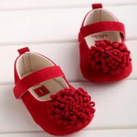 Sepatu Bayi Perempuan Prewalker Red Infantil Flower