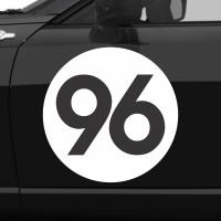 VTSPC004 sticker custom nomor balap mobil racing drift pintu samping