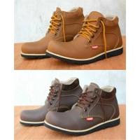 Sepatu Boot Kickers Semi Boot Coklat Tan Kerja Pria Wanita
