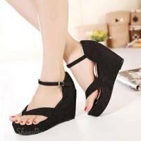 harga Sandal Sepatu Wedges Wanita Cantik Sp82 Tokopedia.com