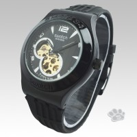 Swatch Skeleton 8Machine Rubber Hitam