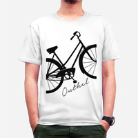 harga kaos tshirt sepeda onthel antik custom clothing tees putih Tokopedia.com