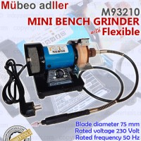 "Gerinda Duduk Mini / Mini Bench Grinder 3"" + Flexible MUBEO ADLLER"