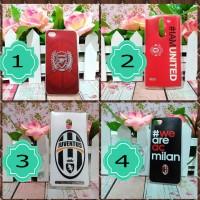 Jual phone case custom ac milan MU juventus arsenal casing hp smartphone Murah