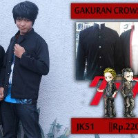 jaket anime blazer gakuran crows zero (heartlesshop)