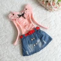 Rok Jeans Ikat Pinggang Anak Perempuan BW01063H6