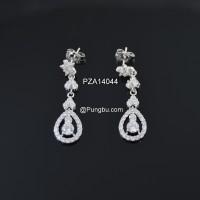 Anting panjang elegan zirconia PZA14044