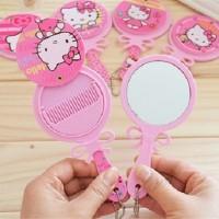 Jual Sisir Comb Cermin Kaca Mirror Karakter Hello Kitty HK Frozen Elsa Anna Murah