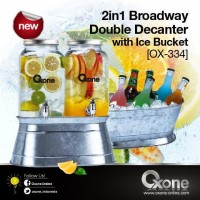 OX-334 Double Decanter with Ice Bucket Oxone