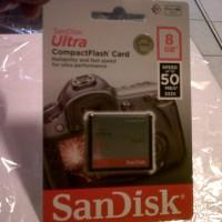SanDisk CF Ultra 8 GB Speed 50 MB / S (333 X) Memori untuk Kamera