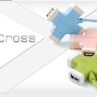 Cliptec X-CROSS USB 2.0 4 Ports Hub RZH201