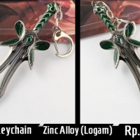 Gantungan Keychain Dota 2 Butterfly Sword | Aksesoris Steam Valve