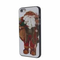 Jual Apple iPhone 5 & 5S Santa Claus Xmas Gift Back Hard Case Housing Cover Murah