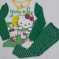 Setelan Piyama Hello Kitty Star Hijau
