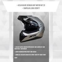 Harga mtx silver doff helmet mt | antitipu.com