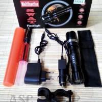 PROMO HEMAT !!! Paket lampu sepeda = Senter Police + Bracket + Laser T