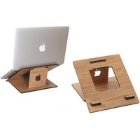 harga Fashion Wood Style Portable Laptop Stand - Brown Tokopedia.com