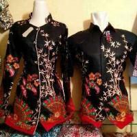 harga Baju Batik Couple Kipas Bambu Hitam Pekat Tokopedia.com