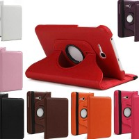 Samsung Tab 3 V T116 Rotating Standing Leather Case Autolock