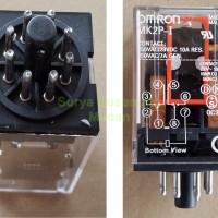 Relay Omron 8 Kaki / Socket Bulat AC 220v