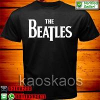 harga Kaos The Beatles Logo White Tokopedia.com