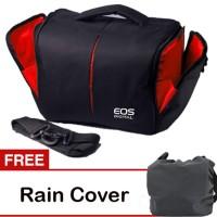 Tas Kamera Canon Eos Hitam Seri T Free Rain Cover