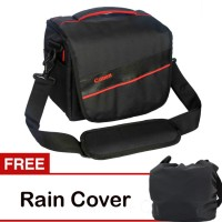 Jual Tas Kamera Canon Hitam Seri H Free Rain Cover Murah