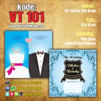 Undangan Pernikahan Vintage VT 101