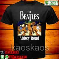 harga Kaos The Beatles Abbey Road Funny Cartoon Tokopedia.com