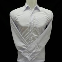 kemeja panjang putih polos bahan katun  halus dan lembut