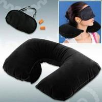 Tavell Pillow Bantal Leher + Penutup Mata & Telinga / Bantal Leher