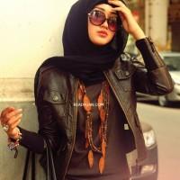 jaket kulit wanita jilbab blazer jacket semi sintetis imitasi kulit