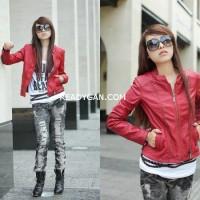 harga Jaket Kulit Wanita Korea Blazer Jacket Semi Sintetis Imitasi Kulit Tokopedia.com