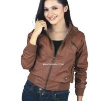 harga jaket kulit wanita model blazer jacket semi sintetis imitasi kulit Tokopedia.com