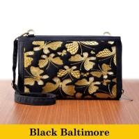 Dompet Tas Selempang Wanita Etnik Modipla Hpo Black Baltimore