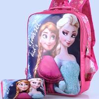 tas frozen anak / tas sekolah anak frozen plus tempat pensil gyn 4640