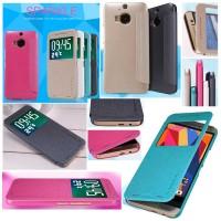 Flipcase Nillkin Sparkle Leather Book Flip Cover Case HTC One M9 Plus