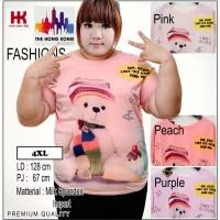 (4XL) Kaos Winter Bear Fashion Jumbo | Big | Plus
