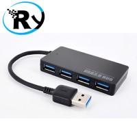 USB Travel Charger and HUB Combo USB 3.0 4 Port - Black