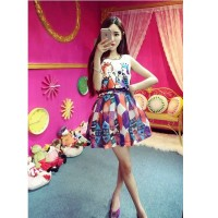 harga Baju Dress Korea Chiffon Blouse Rok Gambar Prince Princess Import Lucu Tokopedia.com
