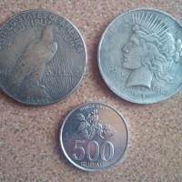 Koin Amerika Serikat 1921 - Peace 1 Dollar Liberty | Replika