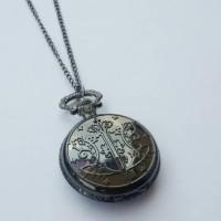 Pocket Watch Necklace / Kalung Jam Saku Vintage Black Kingdom