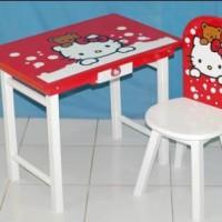 Meja Belajar Anak Hello Kitty Kaki Paten