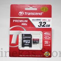 MicroSD Transcend 32GB Class 10 45mb / S