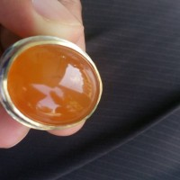 Batu Cincin Akik Orange Kalsedon Kristal Motif Sodo Kecil